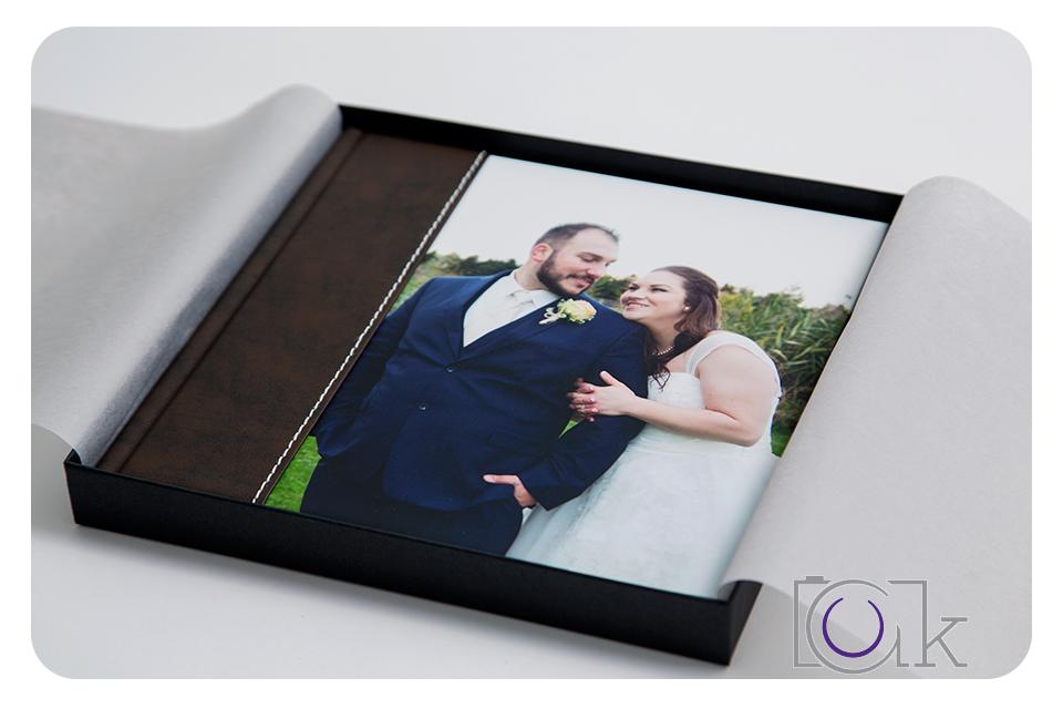Cover of photo album in box